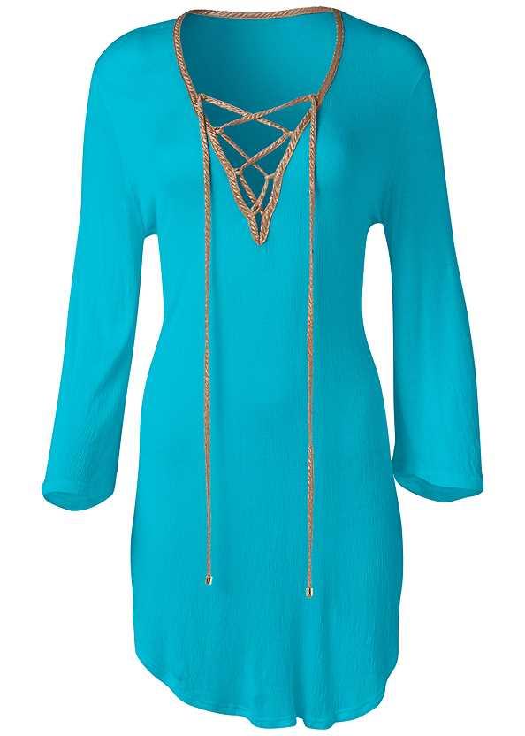 Roman Cover-Up Beach Dress,Goddess Enhancer Push Up Halter Top,Adjustable Side Swim Short,Slimming Draped One-Piece