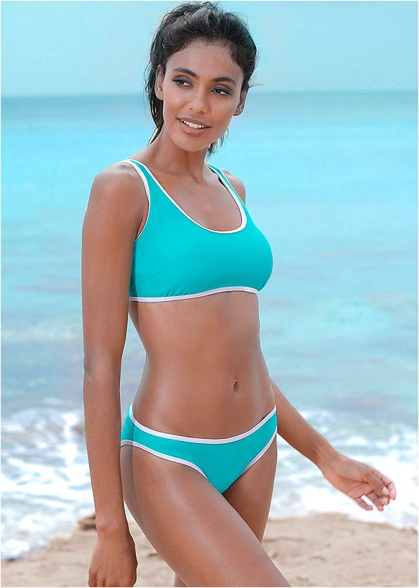 Low Rise Moderate Bottom,Underwire Halter Top,Marilyn Underwire Push Up Halter Top,Hoodie Cover-Up