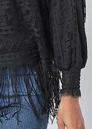 Alternate View Fringe Detail Lace Top