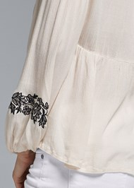 Alternate View Embroidered Peasant Top