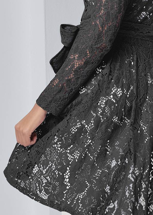 Alternate View Lace High Low Trench Coat