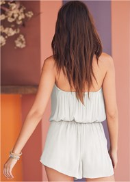 Cropped Back View Drape Cover-Up Romper