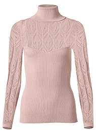 Alternate View Pointelle Turtleneck Sweater