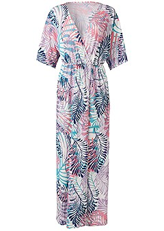 plus size overlap cover-up dress