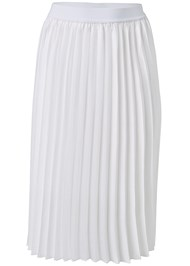 Ghost with background  view Pleated Midi Skirt