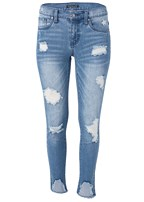 plus size triangle hem jeans