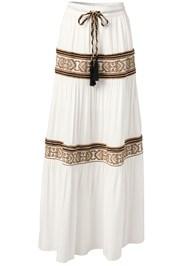 Alternate View Gold Embellished Maxi Skirt