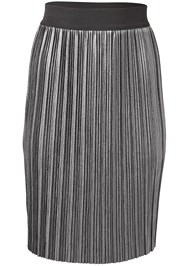 Alternate View Pleated Metallic Midi Skirt