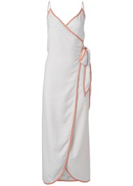 Ghost with background  view Linen Wrap Maxi Dress