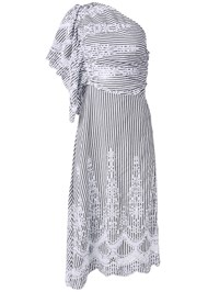 Ghost with background  view Embroidered Linen Dress