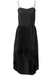 Ghost with background  view Pearl Strap Pleated Dress