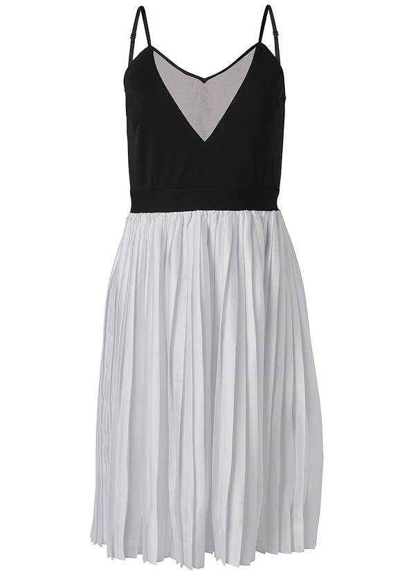 Ghost with background  view Color Block Pleated Dress
