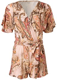 Ghost with background  view Paisley Tie Front Romper