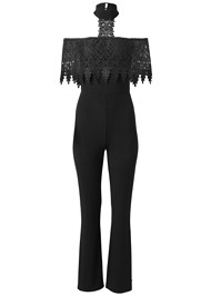 Alternate View Cold Shoulder Lace Jumpsuit