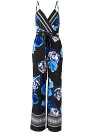Alternate View Printed Tie Front Jumpsuit