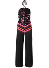 Alternate View Printed Halter Jumpsuit