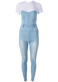 Alternate View Twofer Denim Jumpsuit
