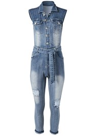 Alternate View Ripped Denim Jumpsuit