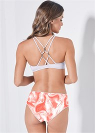 Full back view Versatility By Venus™ Scoop Swim Crop Top