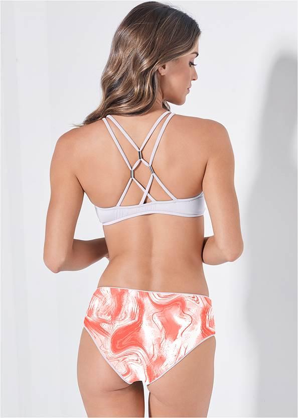 Full back view Versatility By Venus™ Scoop Swim Crop Top