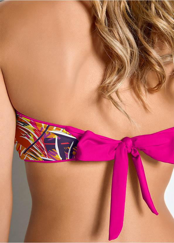 Detail back view Versatility By Venus™  Reversible Bandeau Top