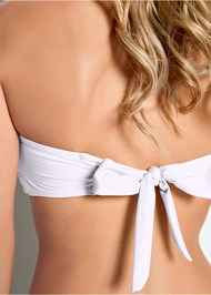 Detail back view Versatility By Venus™  Reversible Bandeau Top