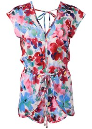 Alternate View Waist Tie Romper Cover-Up