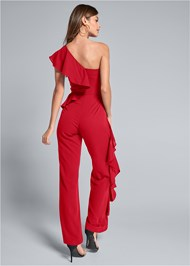Full back view Ruffle Detail Jumpsuit