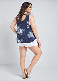Back View Open Back Floral Top