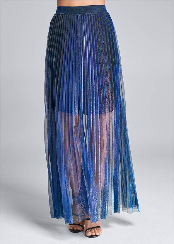 Alternate View Pleated Maxi Skirt