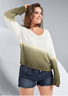 plus size ombre sweater