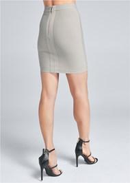 Back View Bandage Sequin Skirt