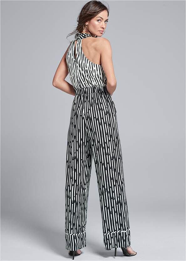 Back View Stripe Jumpsuit