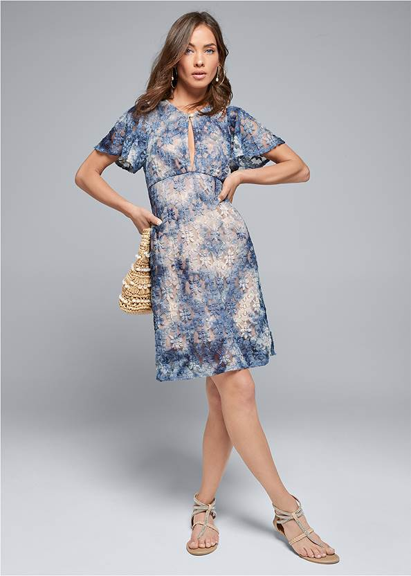 Alternate View Ombre Lace Dress