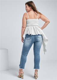 Back View Ruched Asymmetrical Top