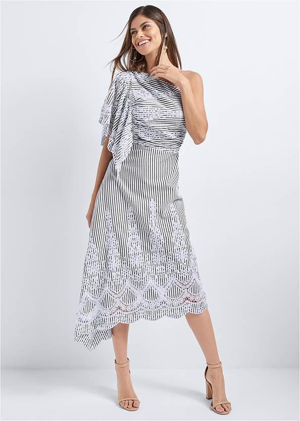 Embroidered Linen Dress