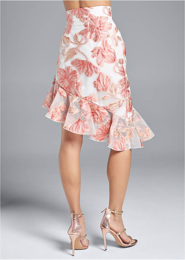 Back View Floral Skirt
