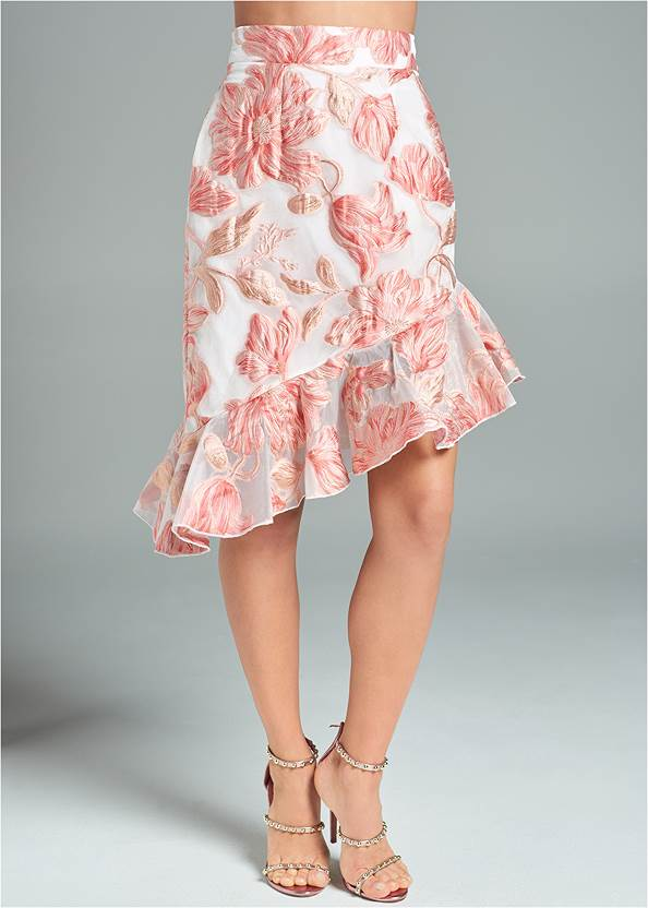 Front View Floral Skirt