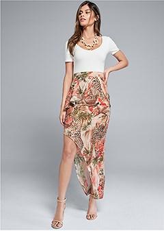 animal print skirt