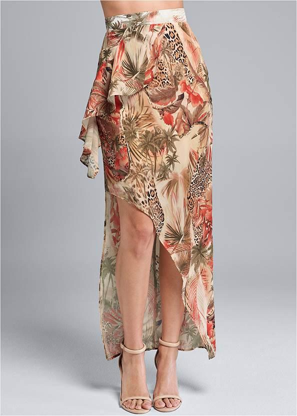 Waist down front view Animal Print Skirt
