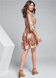 Full back view Paisley Print Mini Dress