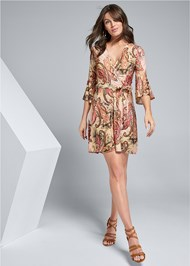 Full front view Paisley Print Mini Dress