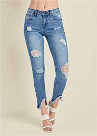 Alternate View Triangle Hem Jeans