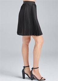 Waist down side view Pleated Mini Skirt