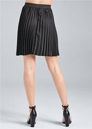 Waist down back view Pleated Mini Skirt