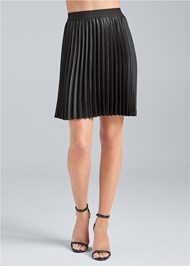 Waist down front view Pleated Mini Skirt