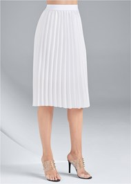 Waist down side view Pleated Midi Skirt