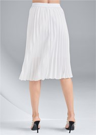 Waist down back view Pleated Midi Skirt