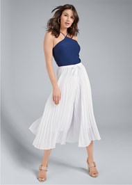 Front View Pleated Pants
