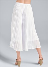 Waist down back view Pleated Pants